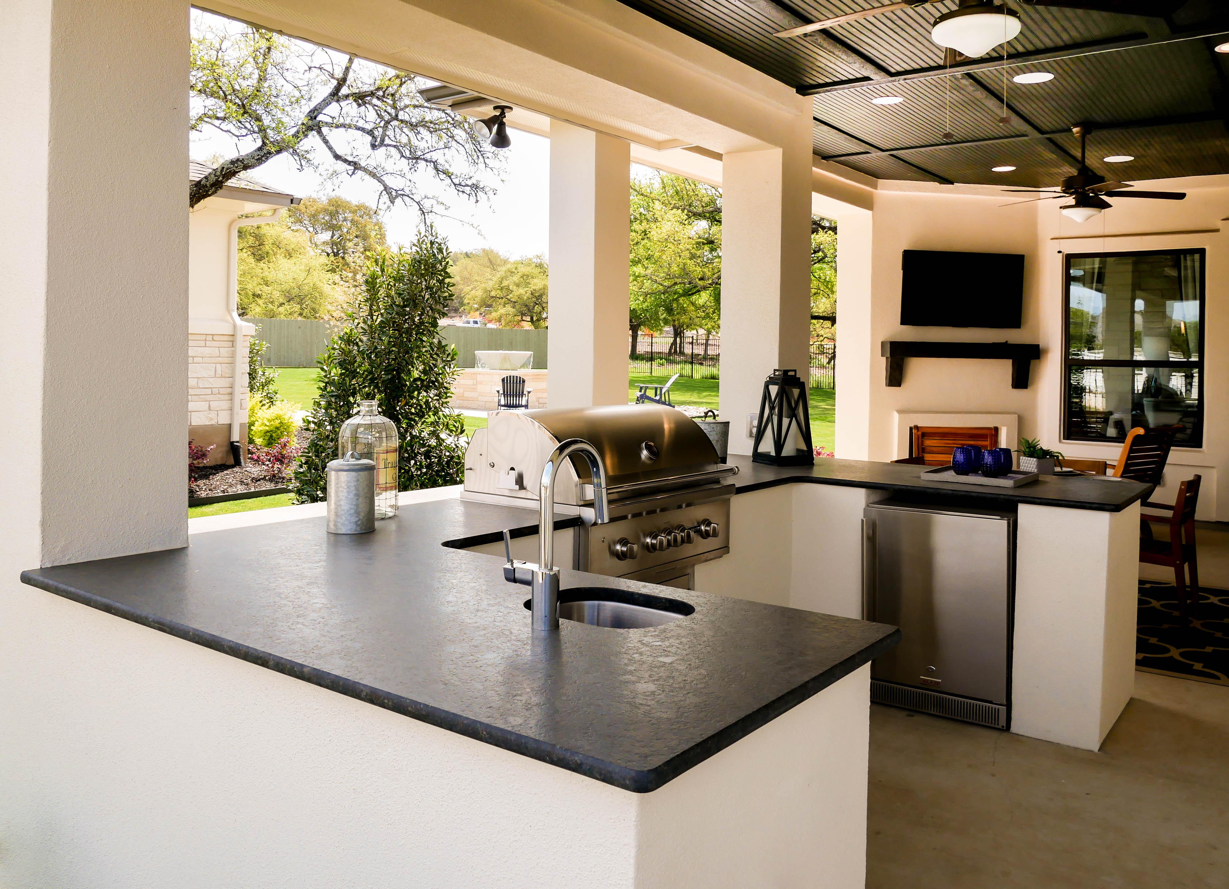 granite countertops outdoor kitchen austin texas