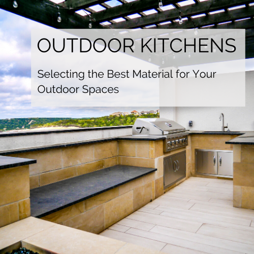 outdoor kitchen best material options for countertops